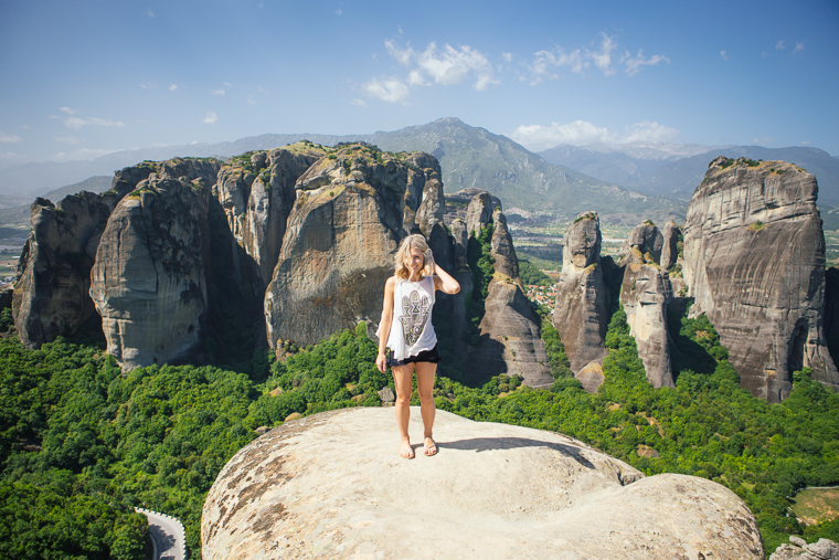 Rock formations in meteora greece