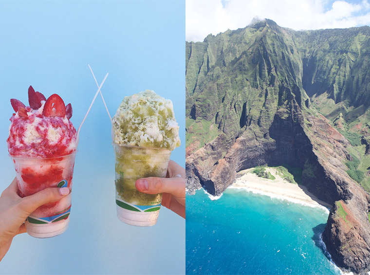 tege tege shave ice truck and napali coast hike in kauai hawaii