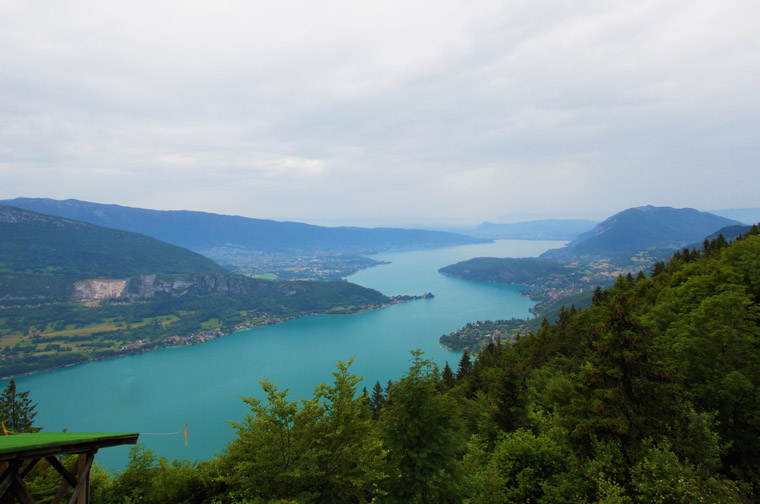 beautiful annecy lake overlook in france bordering switzerland
