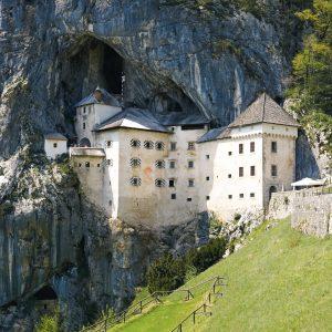 Predjama castle in postojna slovenia