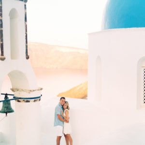 Santorini Engagement Shoot Finduslost Selena Jacob Greek Island