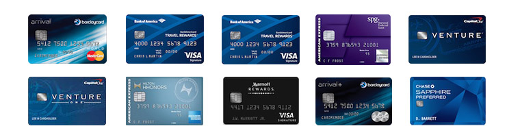 Comparing travel rewards credit cards for hotel and flight points