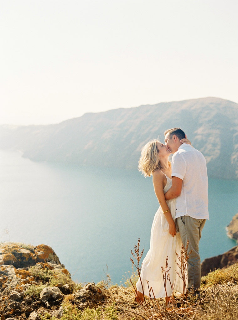 Engagement Photo Shoot Session in Santorini Greece With The Couple Behind Finduslost