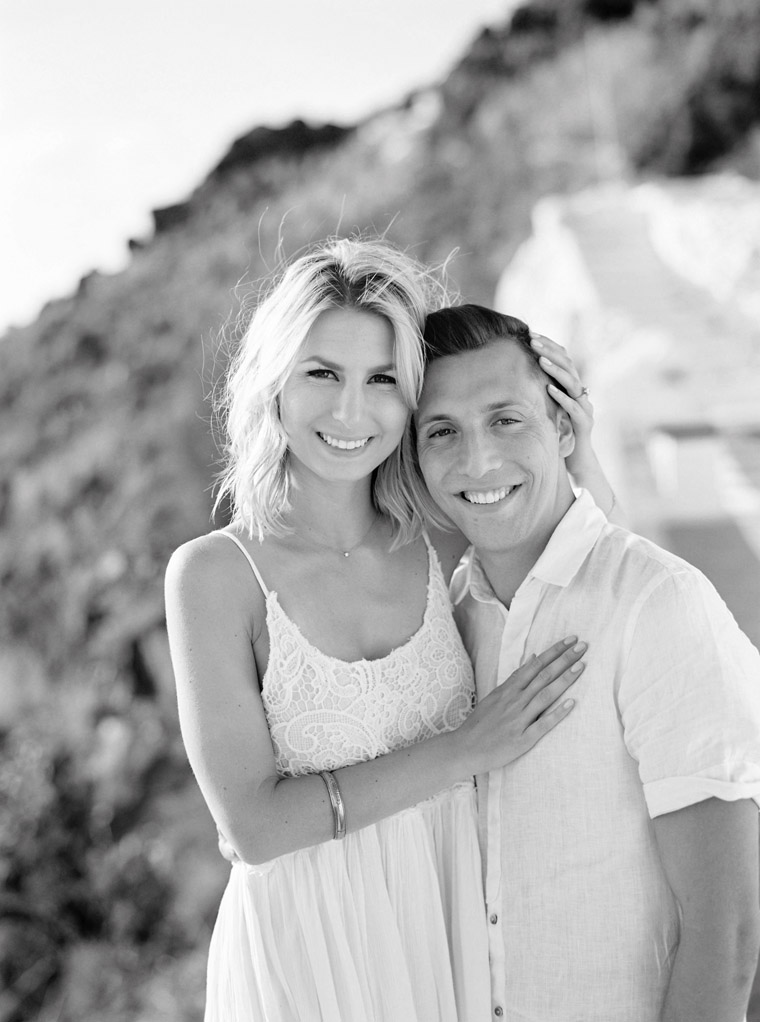 Santorini Engagement Photo Shoot In Greece With Selena and Jacob of Finduslost