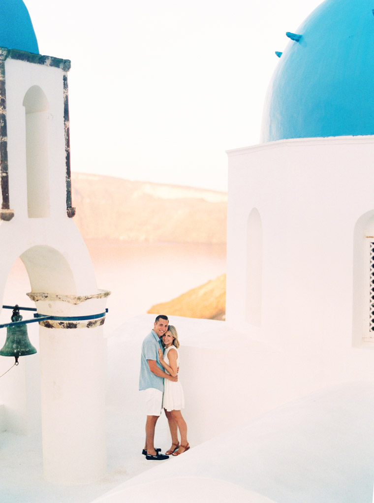Santorini Greece Engagement Photo Shoot Session, The Couple Behind Finduslost