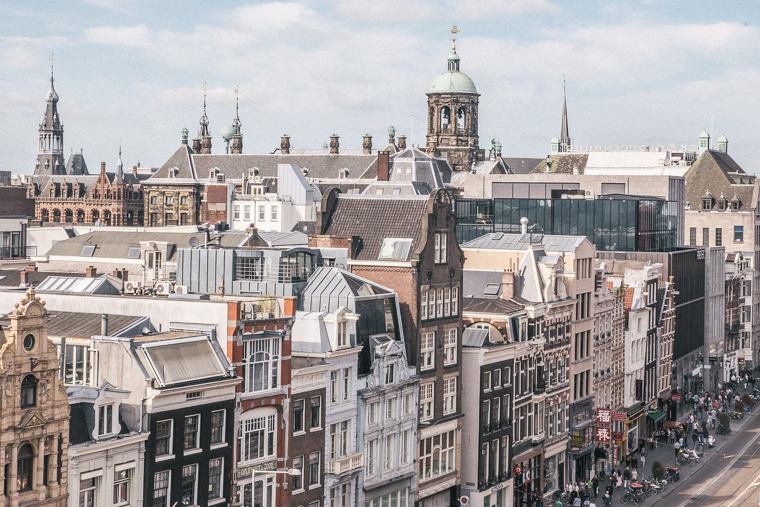 best rooftop city view of amsterdam