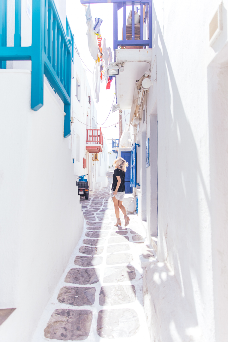 dancing in the white streets of mykonos town