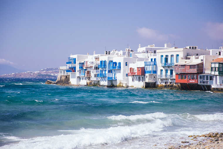 little venice and beach in mykonos town