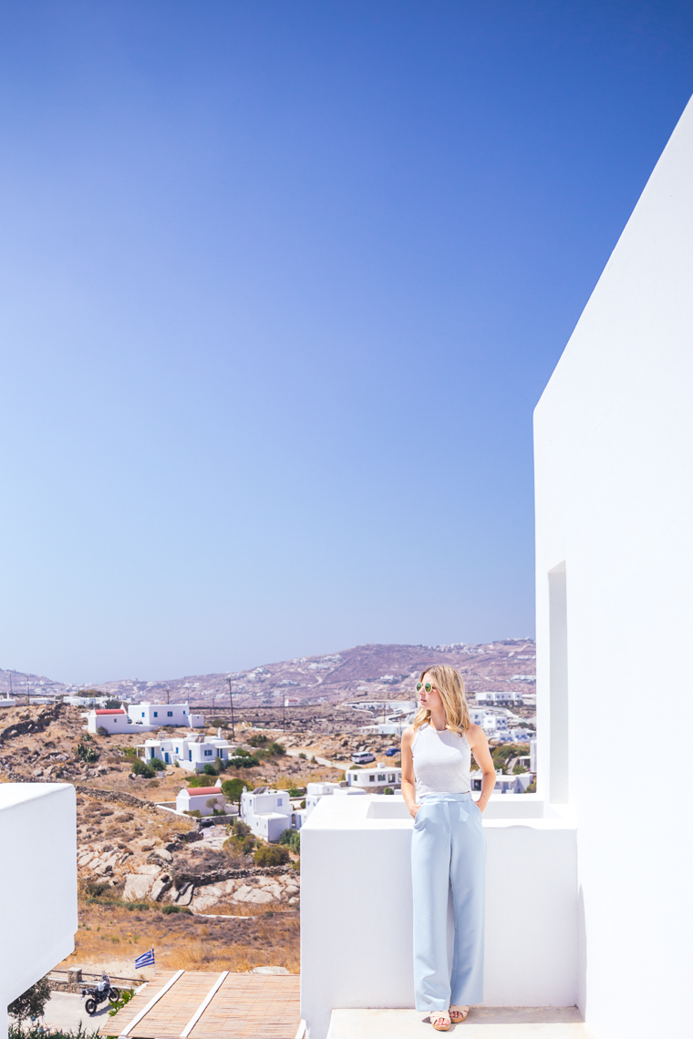View of mykonos town from hotel Boheme Mykonos