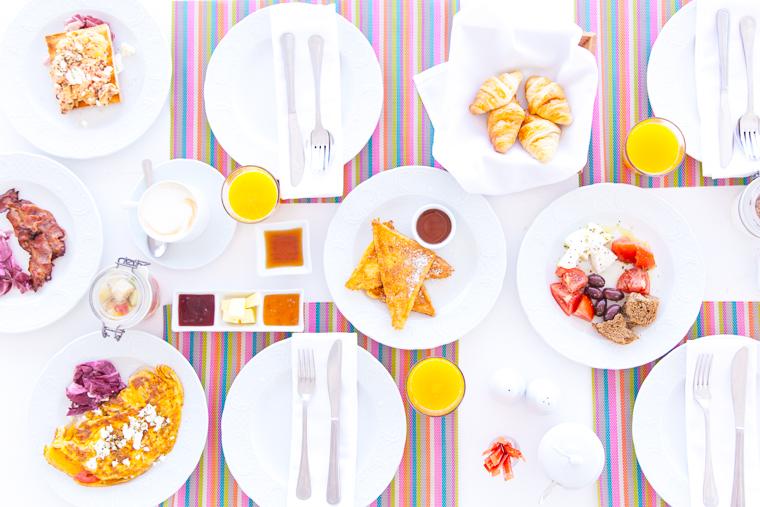 delicious greek breakfast mediterranean olives plates