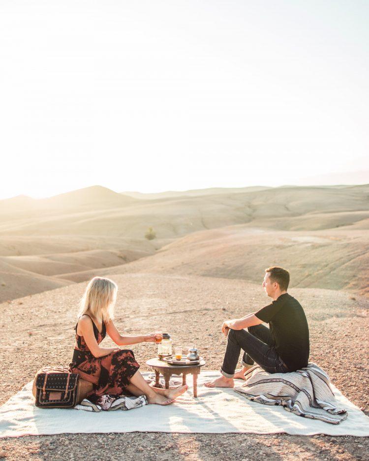 Glamping in the Desert Outside Marrakech, Morocco