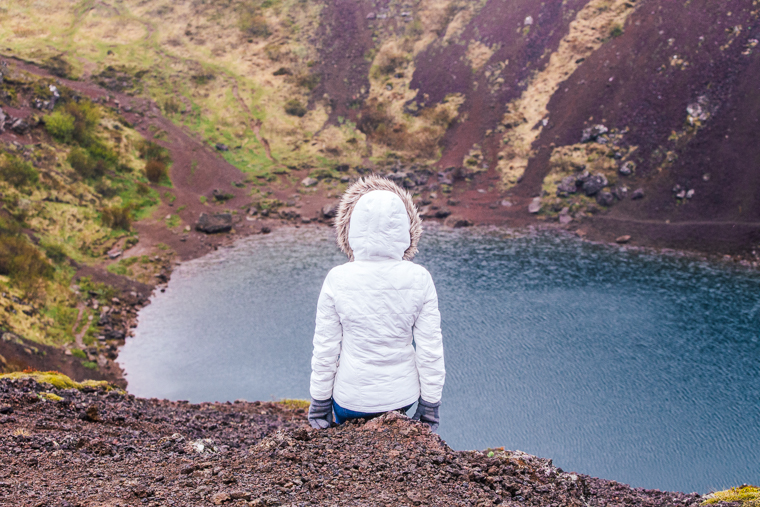 Kerid Crater Lake in Iceland Ring Road Trip via finduslost