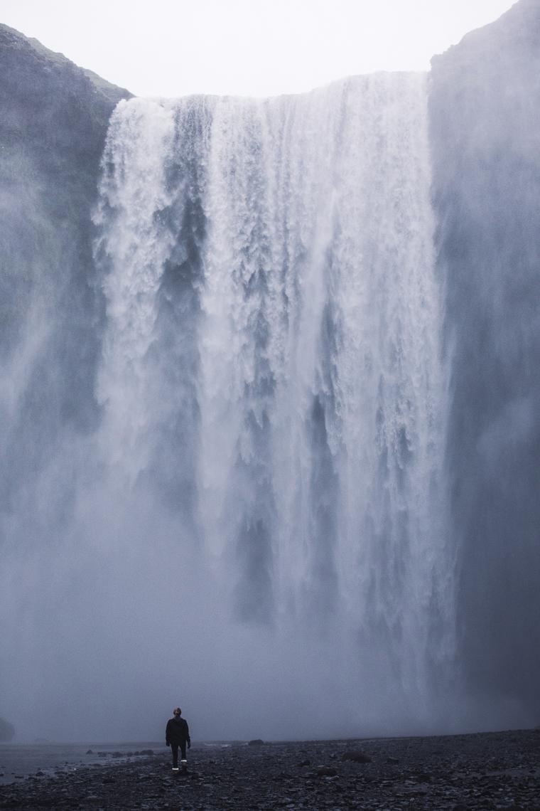 Skogafoss Waterfall in Iceland via finduslost