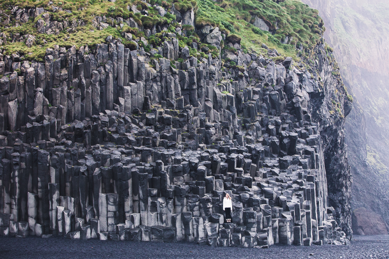Basalt columns at Reynisfjara via Finduslost