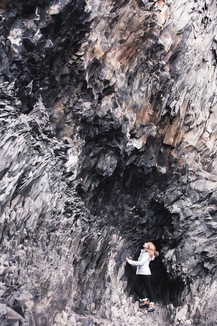 Rock formations at Reynisfjara Beach via finduslost