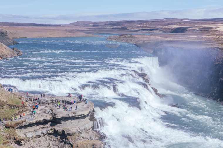 Gullfoss Falls in Iceland finduslost