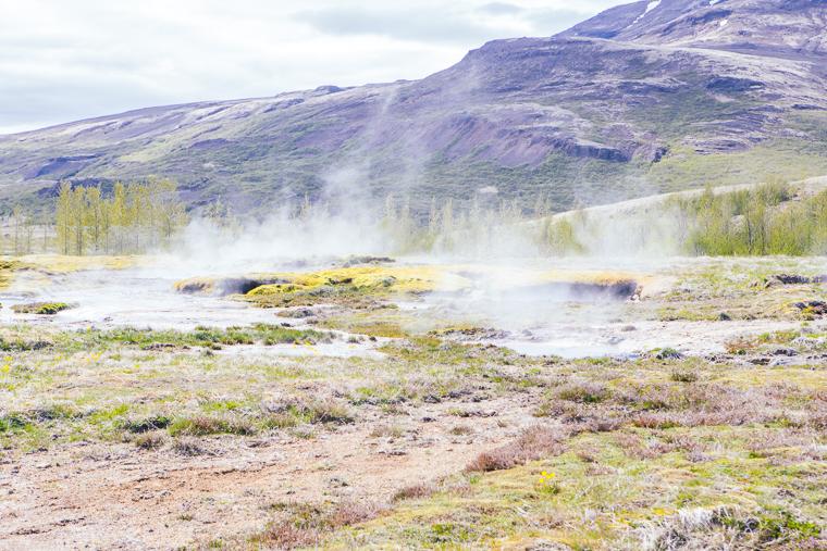Hot springs next to Strokkur geyser iceland