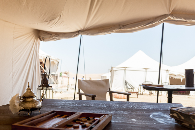 View from the tents at Scarabeo Camp via @FindUsLost