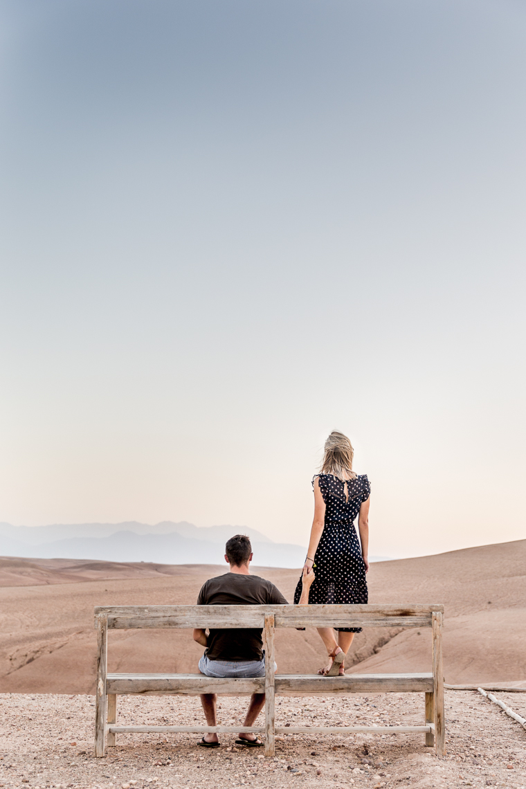 Bench in the desert Scarabeo Camp in Morocco via @FindUsLost