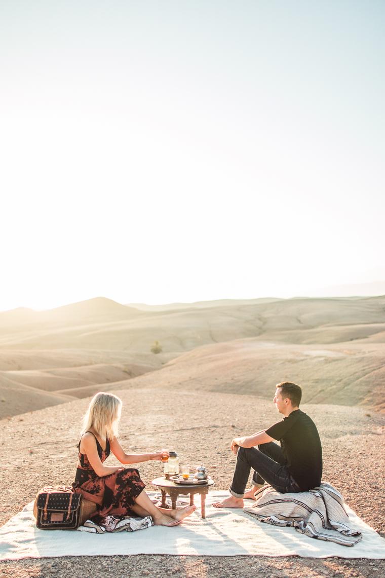 Breakfast at sunrise in Morocco desert via @FindUsLost