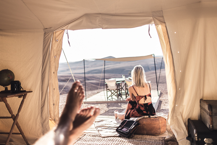 View from our tent in the Moroccan desert via @FindUsLost