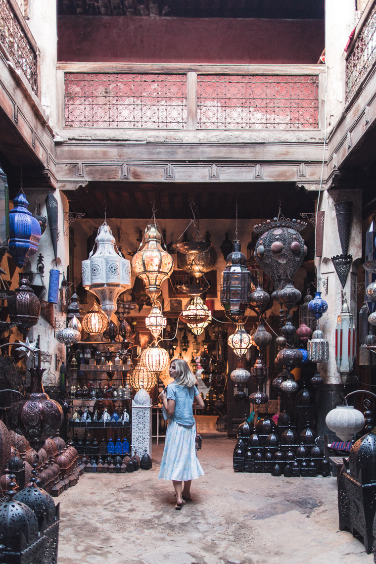 Moroccan lamp souk in marrakesh morocco via finduslost
