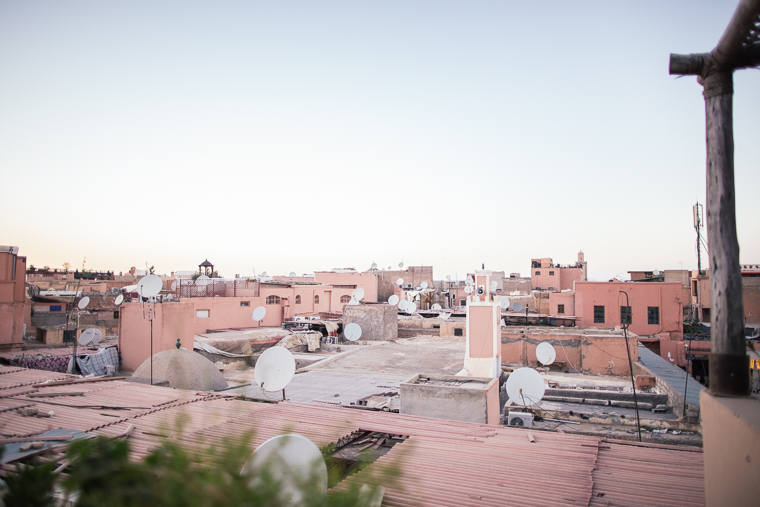 The pink rooftops of Marrakesh Morocco via finduslost