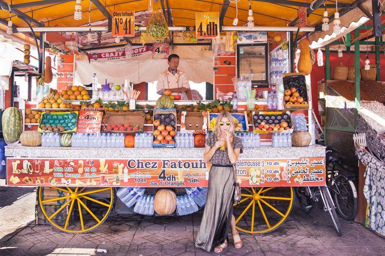 Where to find the freshest juice in marrakesh morocco via finduslost