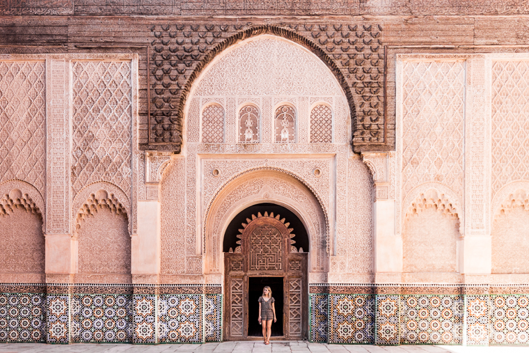 Exploring Ben Youssef Madrasa a must see in Marrakesh Morocco via finduslost