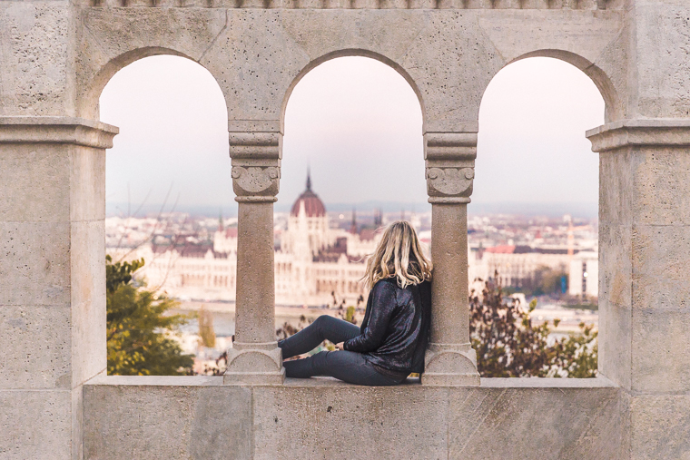 View of the parliament building from Fisherman's Bastion Budapest