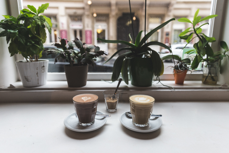coffee and hot chocolate at Espresso Embassy in budapest hungary