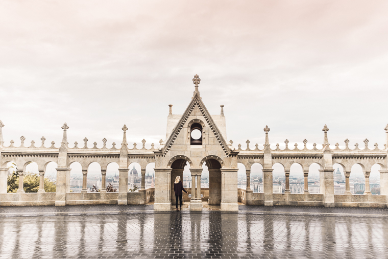 Walking the walls of Fisherman's Bastion in Budapest Hungary
