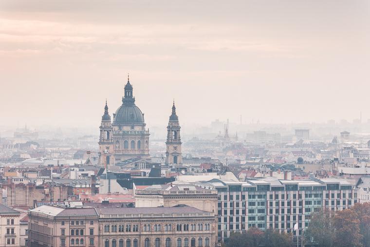 City of budapest hungary at sunset