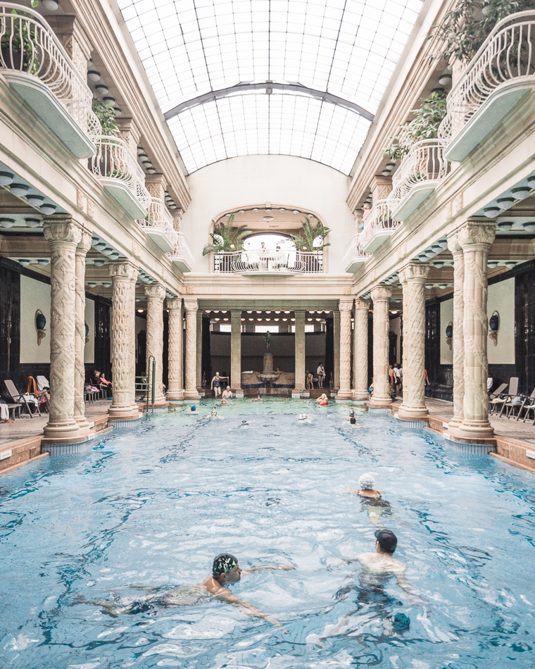 The indoor pool at Gellert Baths Budapest Hungary