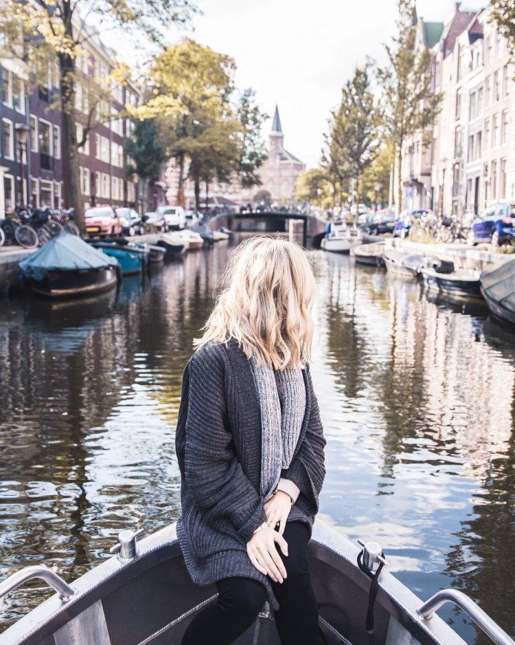 A Canal Boat Ride in Amsterdam, The Netherlands