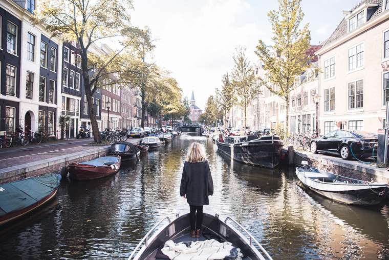 Couples Amsterdam Canal Boat Ride Holland The Netherlands