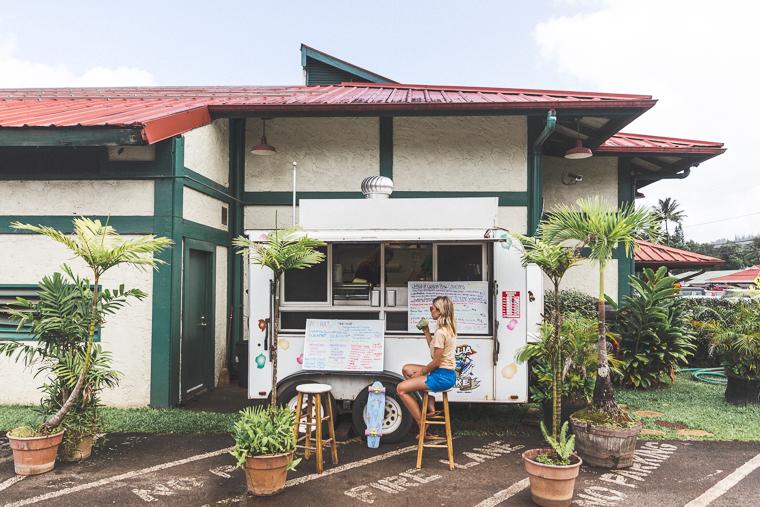 Poke Truck in Hanalei Bay Kauai