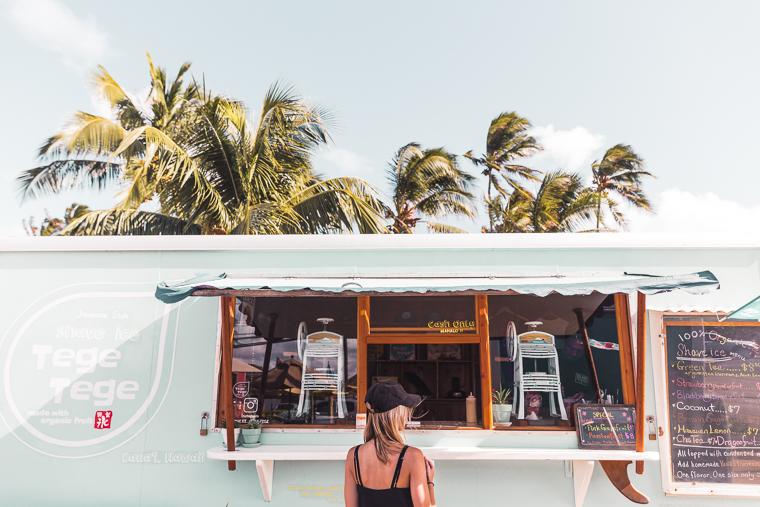 The Tege Tege Shave Ice Truck For Delicious Organic Fruit Ice Kauai Hawaii Kapaa