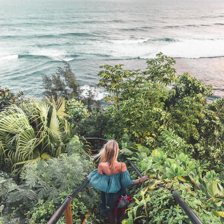 Hideaways Beach Path in Hanalei, Hawaii - Kauai Travel Guide via Find Us Lost
