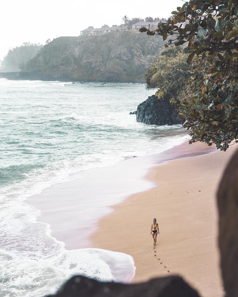 Views of Hideaways Beach Kauai Hawaii North Shore Near St Regis