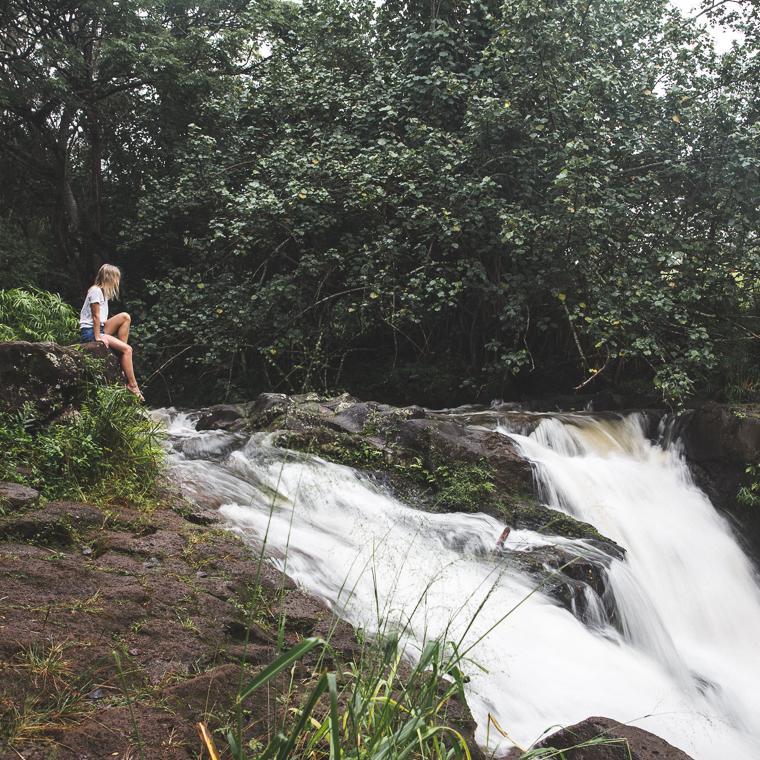 Hike to the top of Ho'opi'i Falls Kauai Swimming Hole