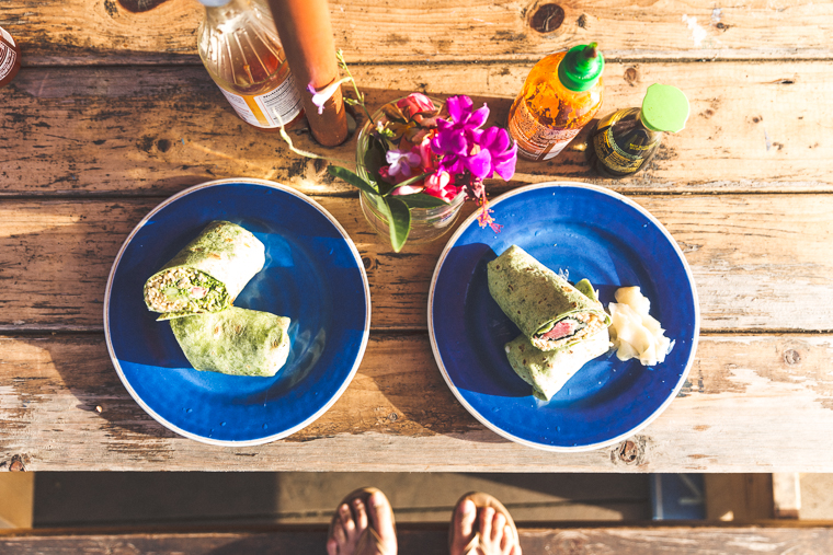 Ahi Fish Burritos from Mermaids Cafe Kapaa Kauai Hawaii