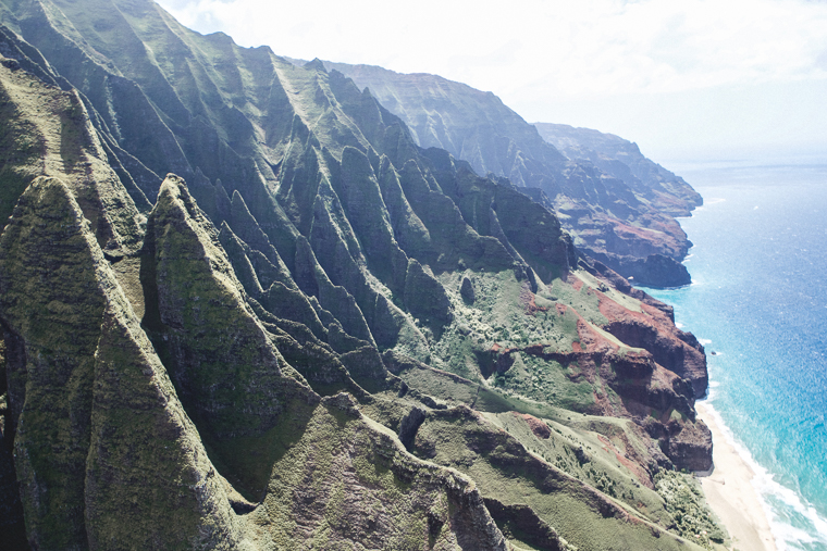 The Na Pali coast from a Helicopter - Kauai Travel Guide via Find Us Lost