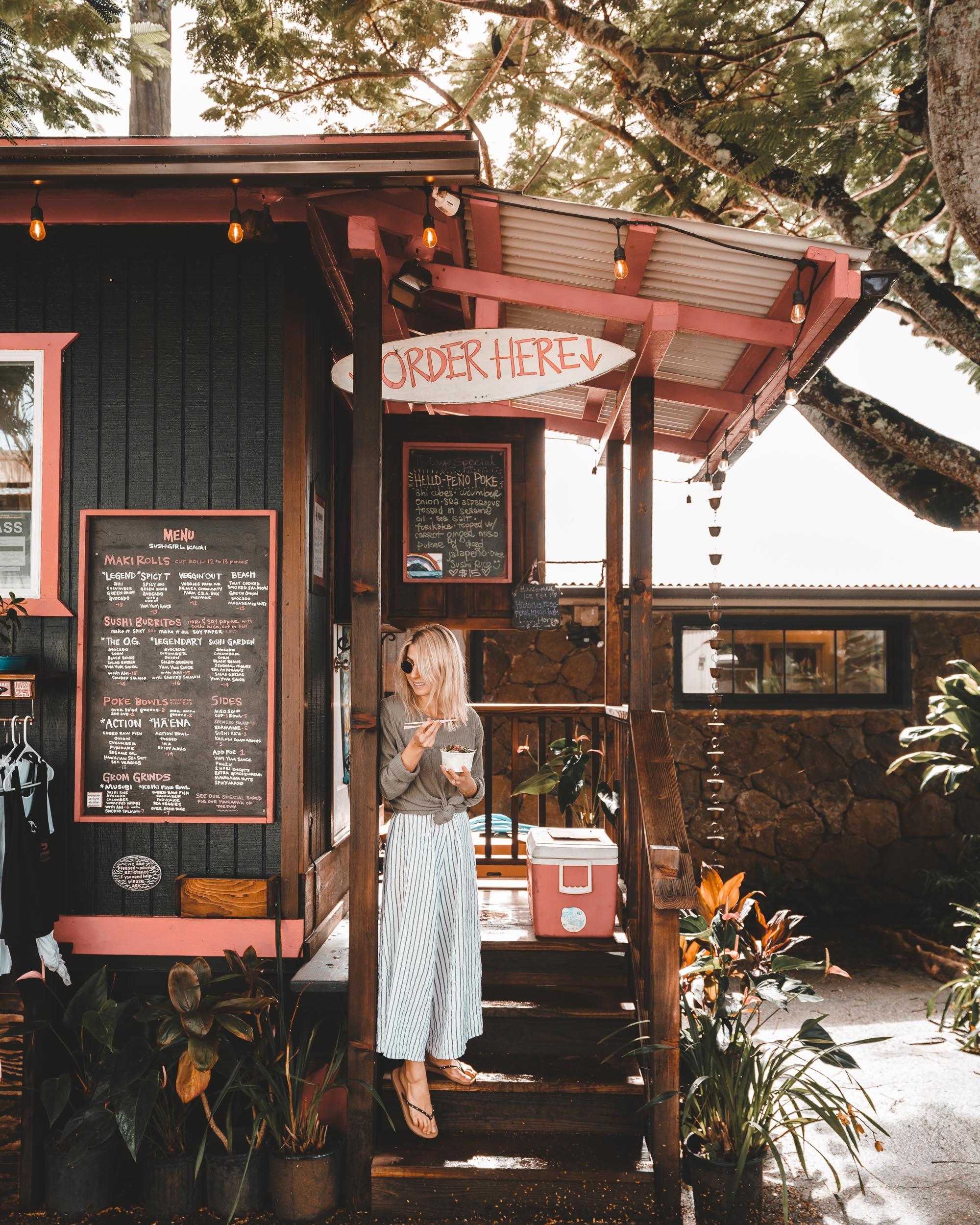Poke Bowls at Sushi Girl in Kauai Hawaii   Travel Guide via Find Us Lost