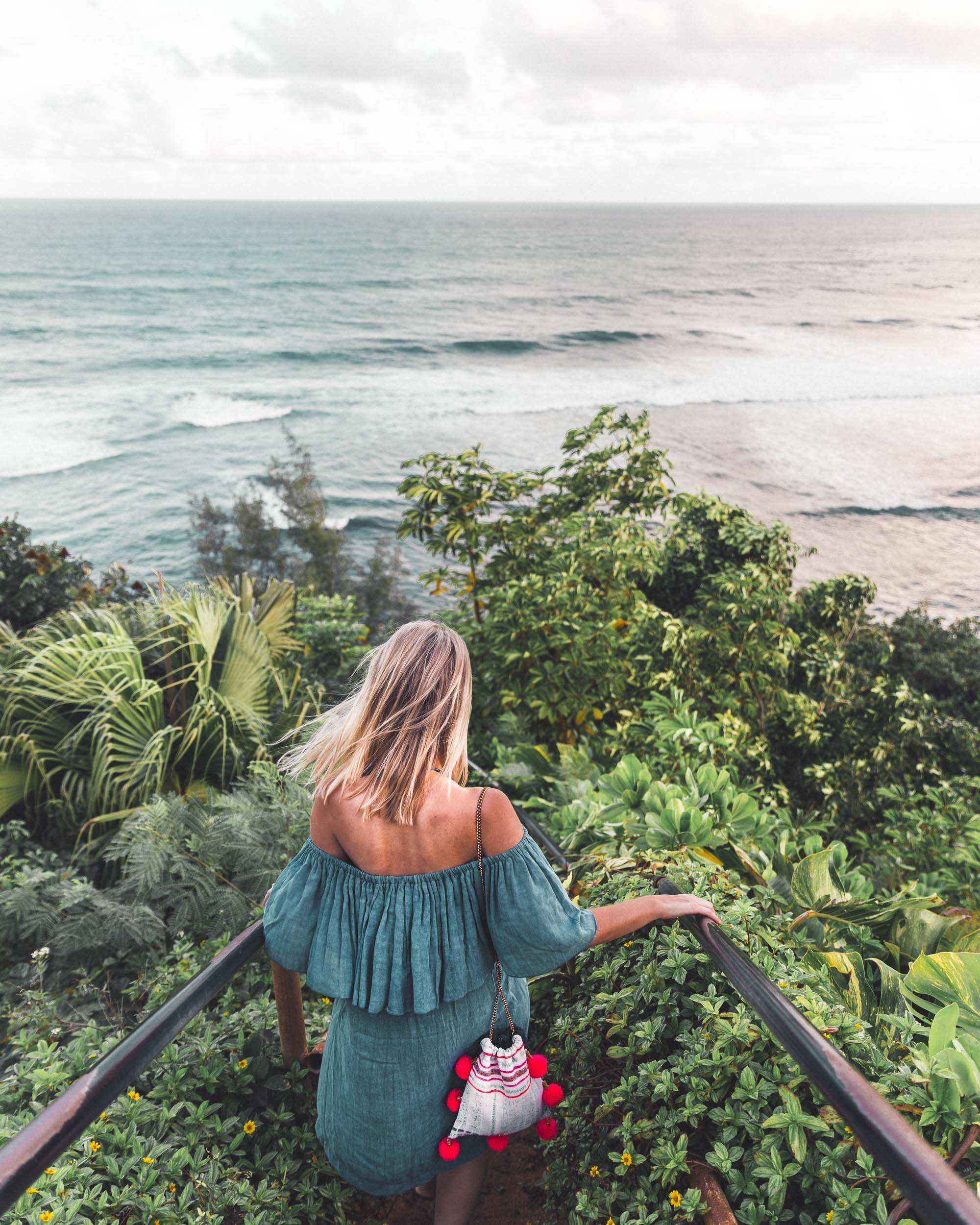 Hideaways Beach Path in Hanalei Hawaii Kauai Travel Guide via Find Us Lost
