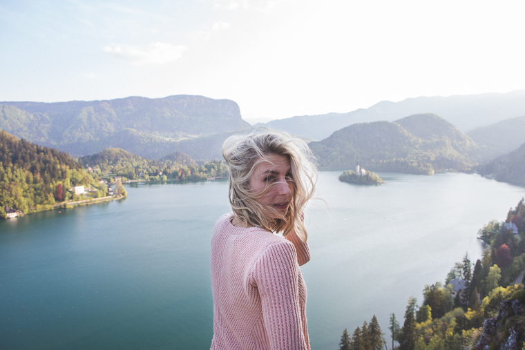 Overlooking the lake from Bled Castle in Slovenia