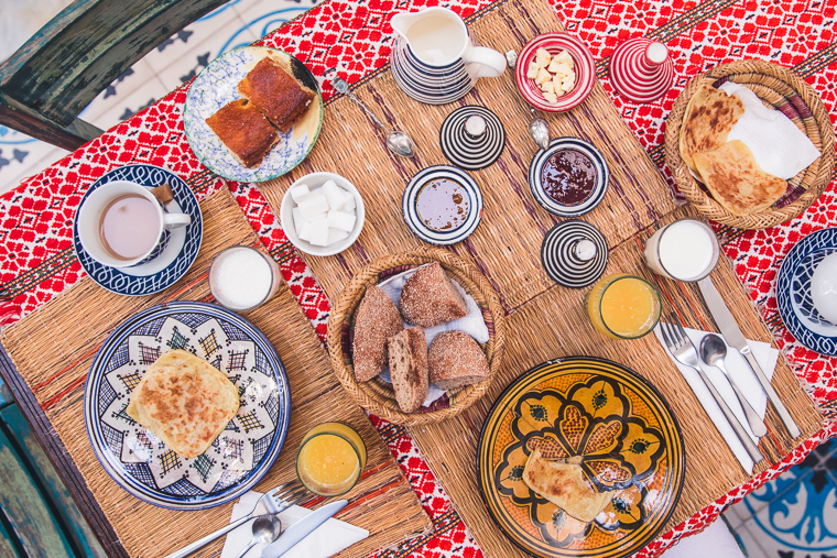 Breakfast Spread at Riad Yamina in Marrakech