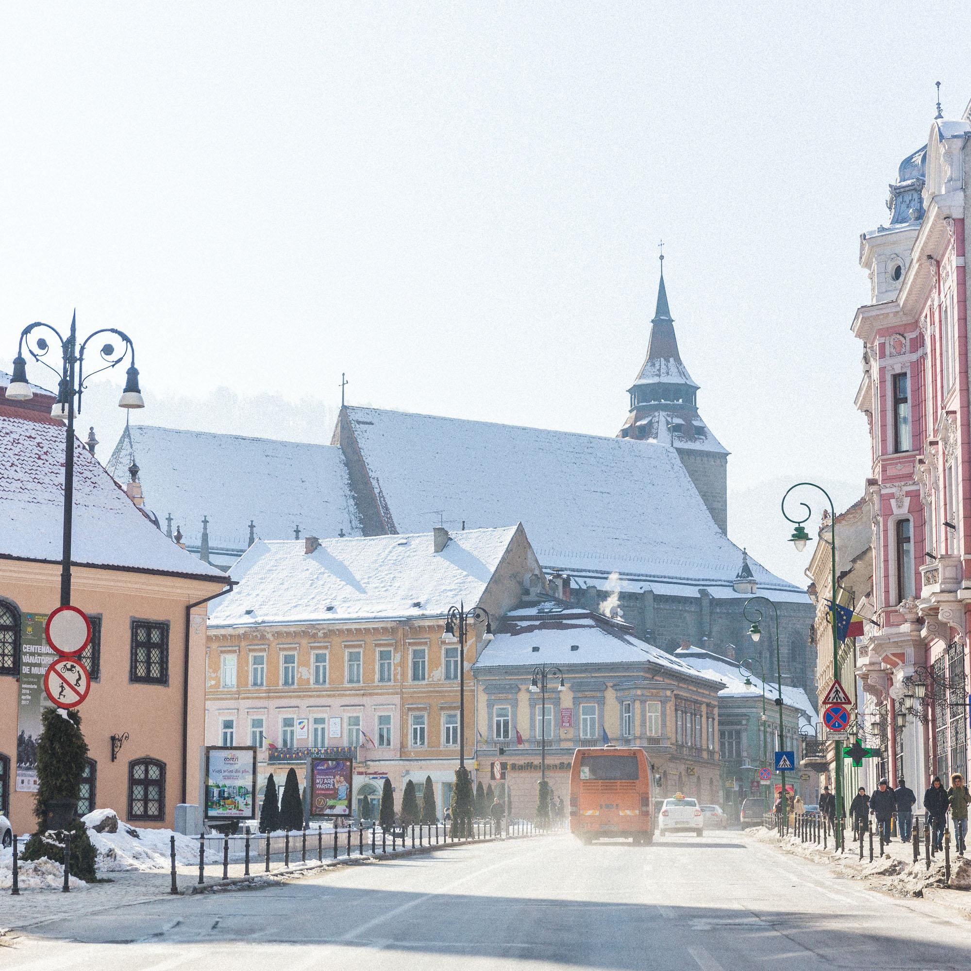 Brasov, Romania town square