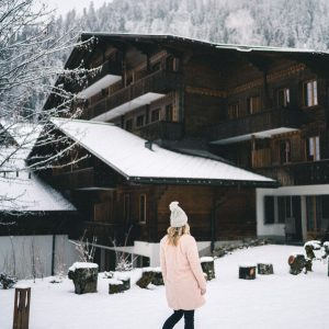 Huus Gstaad Switzerland in the Snow