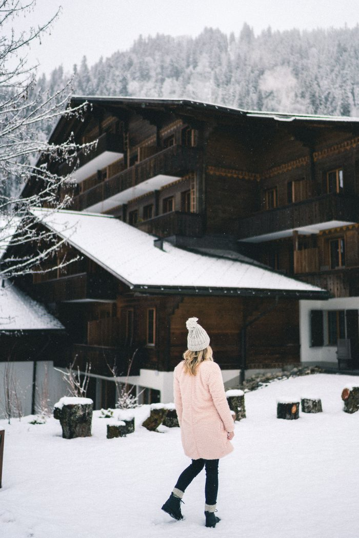 Snow in Gstaad, Switzerland